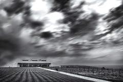 clouds grey Arkivfoton