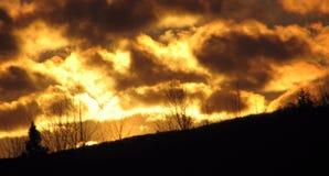 clouds guld- Arkivbilder