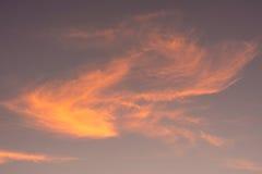 clouds guld- Arkivbild