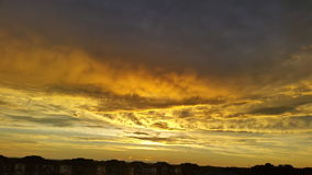 clouds guld- Royaltyfria Bilder