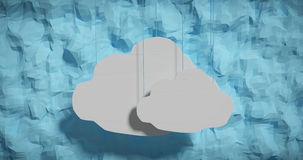 clouds hängande papper Arkivbilder