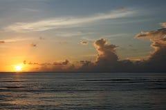 clouds hav över royaltyfri foto