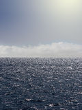 clouds havet Arkivfoton