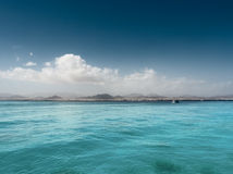 clouds havet Royaltyfria Bilder