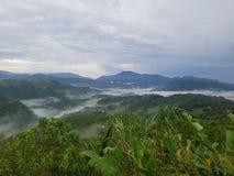 clouds havet royaltyfri foto