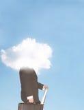 clouds head Στοκ εικόνα με δικαίωμα ελεύθερης χρήσης