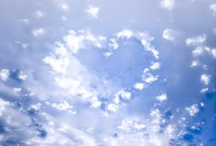Clouds heart Stock Photography
