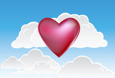 Clouds and Heart Stock Image