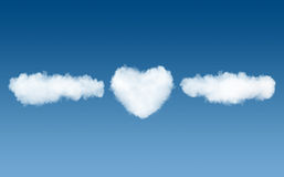 Clouds and heart name template Royalty Free Stock Photos