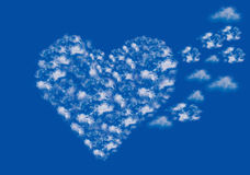 Clouds heart shape Royalty Free Stock Image
