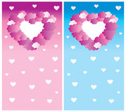 Clouds and Hearts Royalty Free Stock Image
