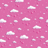 Clouds and hearts Royalty Free Stock Photos