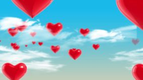 Clouds in hearts stock video footage