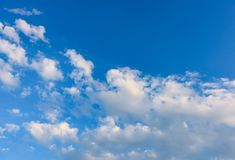 Clouds and heavens. White clouds against the blue sky Royalty Free Stock Image