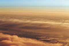 Clouds from a height Royalty Free Stock Image
