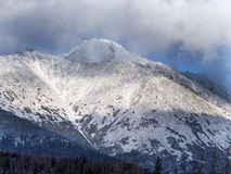 Clouds in High Tatra mountains during winter stock image