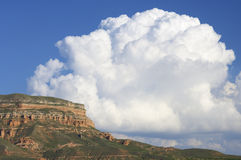 Clouds and hill. S in Saragossa, Spain Royalty Free Stock Photos