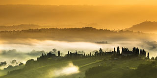 Clouds in the Hills of Tuscany Royalty Free Stock Image