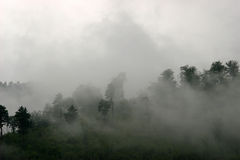 Clouds on the hillside. (Caucasus, Russia Royalty Free Stock Photos