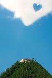 clouds hjärtatempelöverkanten Arkivbilder