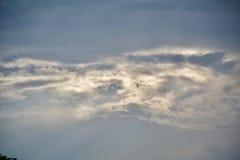 clouds horisonten Arkivfoto