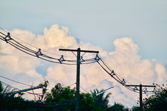 clouds horisonten Fotografering för Bildbyråer