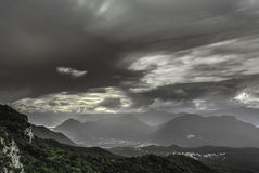Clouds at the horizon, Campo dei Fiori - Varese Stock Images