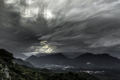 Clouds at the horizon, Campo dei Fiori - Varese Royalty Free Stock Images