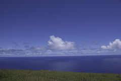 Clouds on the horizon of sea. Clouds on the horizon of sea on a bright sunny day Royalty Free Stock Photos