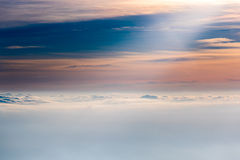 Clouds on the horizon Royalty Free Stock Photos