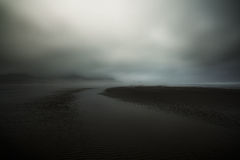 Clouds Hovering On Shore Royalty Free Stock Photos