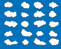 Clouds icon,cloudy sky,clouds blue sky,cloud background Stock Photos