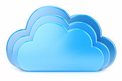 Clouds. Icon to download data isolated on white background Royalty Free Stock Photography