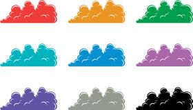 Clouds icons Stock Photo