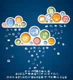 Clouds of icons. Rain contains 100 different icones Royalty Free Stock Image