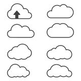 Clouds icons Stock Photos