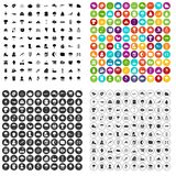 100 clouds icons set vector variant. 100 clouds icons set vector in 4 variant for any web design isolated on white royalty free illustration