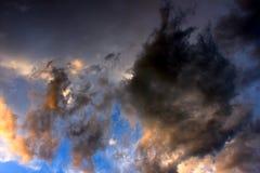 Clouds Illuminated at Sunset Royalty Free Stock Photos