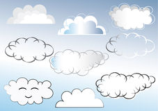 Clouds illustration Royalty Free Stock Photography