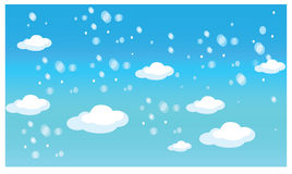 Clouds illustration Stock Photo