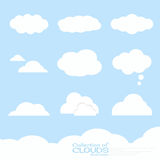 Clouds illustration collection Stock Photography