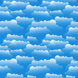 Clouds illustration. A Seamless vector pattern. Royalty Free Stock Photo