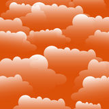 Clouds illustration. A Seamless vector pattern. Royalty Free Stock Photography