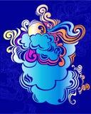clouds illustrationsunvektorn Arkivfoton