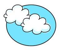 clouds illustrationwhite Royaltyfria Foton