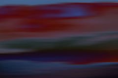 Clouds impressionistic. A blurred and abstract sky with different colored clouds Royalty Free Stock Images