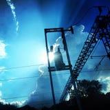 clouds industriellt Arkivfoto