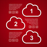 Clouds infographic Stock Photography