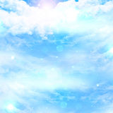 Clouds with intense sunlight. And open space for text Stock Images