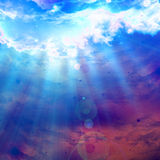 Clouds with intense sunlight. Clouds with an intense sunlight Stock Images